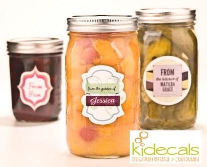 Kidecals Jar Labels