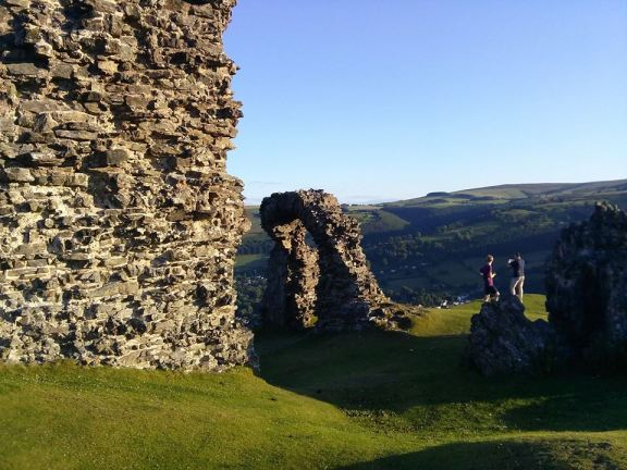 Dinas Bran castle ruins above Llangollen in Wales