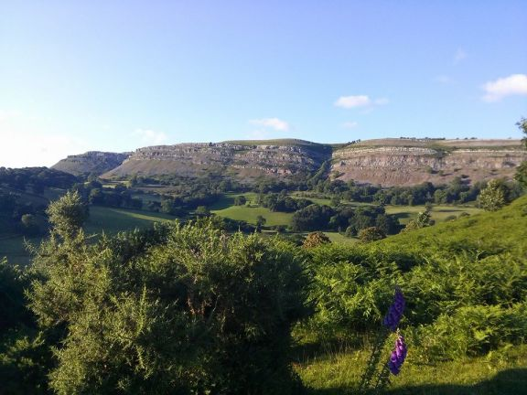 View going to Dinas Bran ruins