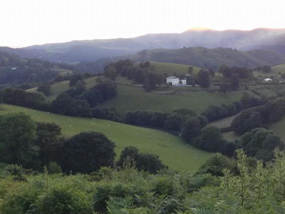 Dinas Bran Castle ruins view