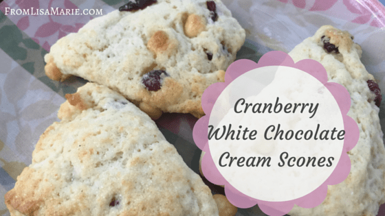 cranberry white chocolate cream scones