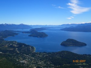 Bariloche: View from the top of the teleferico