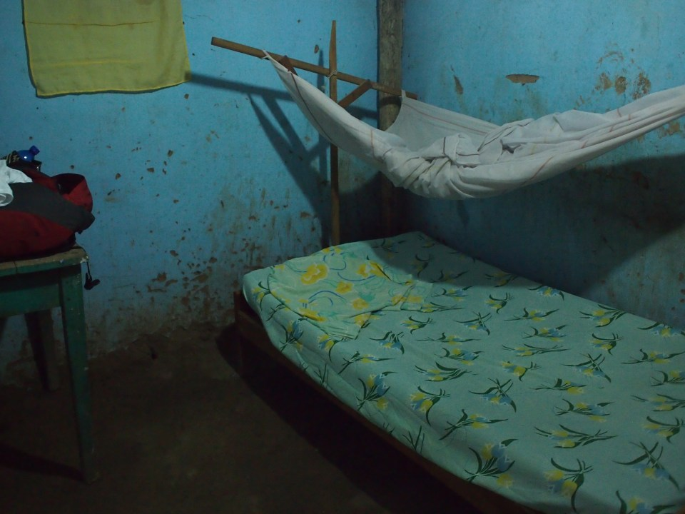 """After 2 nights staying in this delightful """"hotel room""""  in a shitty little town, I was actually excited to get back to Tarapoto.  Times are a'changin'."""