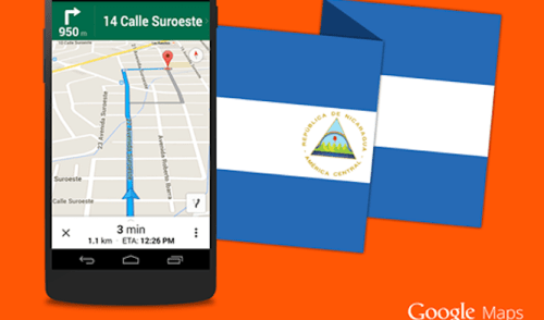 Google Maps ya en Nicaragua con Navegacion por Voz