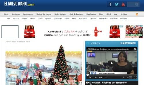 El Nuevo Diario el Sitio web mas Visitado en Nicaragua