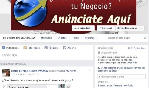 Grupo mas Grande de Ventas en Facebook Nicaragua