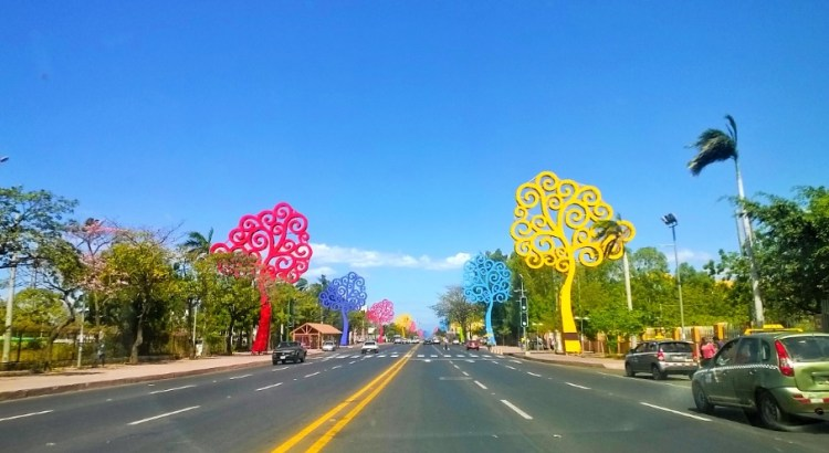 Avenida Bolívar la más moderna en Nicaragua