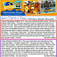 Jadyn's Short Story Published in Waimataitai School Newsletter