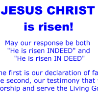 Jesus Christ is Risen Indeed and In Deed
