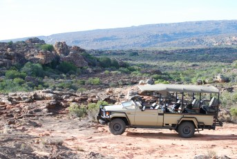 Exploring the vast wilderness at Bushman's Kloof.