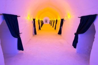 Hallway Leading to Ice Hotel Rooms