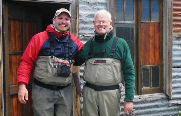 Chuck and Martin at Homestead Cabin nr Dry Fly Bay