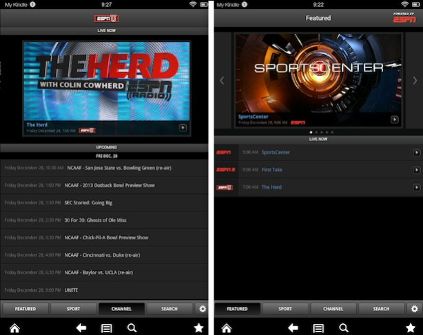 WatchESPN on the Kindle Fire