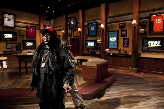 Actor/rapper Big Boi on the First Take set. (Joe Faraoni/ESPN Images)