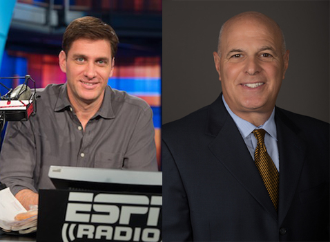ESPN's Mike Greenberg and Seth Greenberg. (ESPN Images)