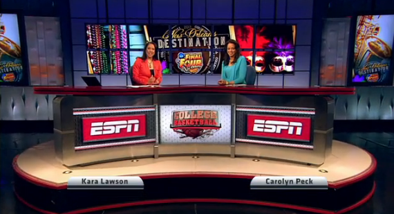 Kara Lawson and Carolyn Peck will provide fans with in studio coverage.