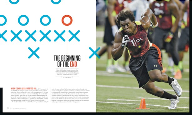 Ezekiel Ansah ESPN Magazine feature story. (Courtesy of ESPN The Magazine)