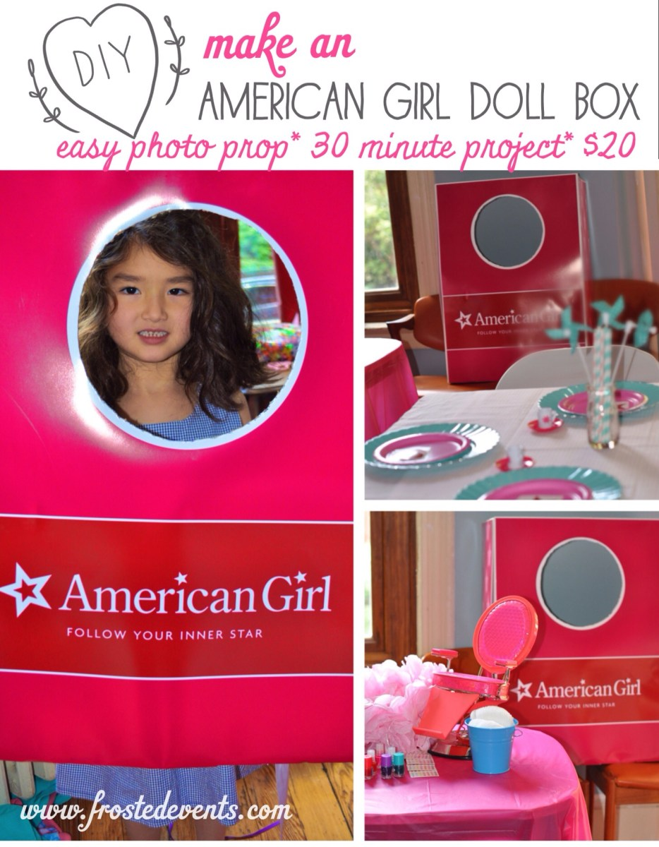DIY- How to Make An American Girl Doll Box Photo Prop