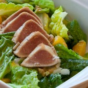 Seared Ultra-Rare Albacore Tuna Salad