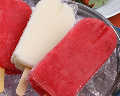 Fresh Strawberry and Pineapple Popsicles - iStock