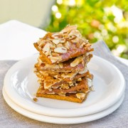 Graham Cracker Caramel Nut Cookies - Doris Cheung