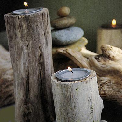 Driftwood Candleholders - Heather Ross