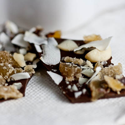 ealthy-Delicious Ginger Coconut-Bark