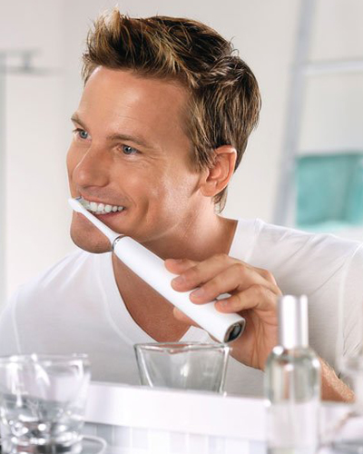 Brushing with Sonicare