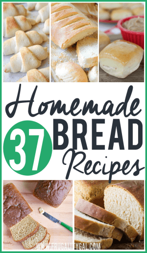 """37 Homemade Bread Recipes to try. Whether you're looking for a basic sandwich bread recipe, a healthier take on an old favorite, or a more """"dressed up"""" bread to take to a gathering, you're bound to find a few useful bread recipes on this list!"""
