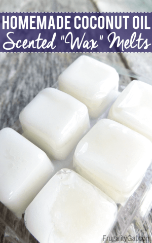 """Frugal Experiment: Homemade """"wax"""" melts using only two ingredients – essential oil and coconut oil."""