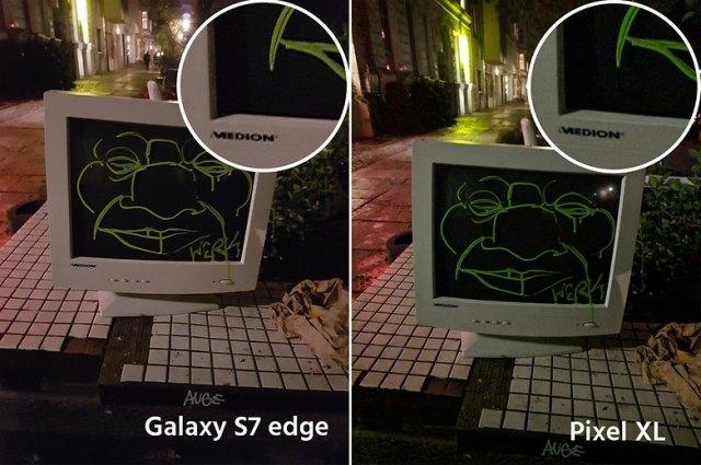 AndroidPIt google pixel XL vs samsung galaxy s7 edge 8