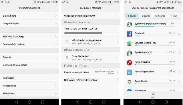 androidpit FR ram utilisation memoire