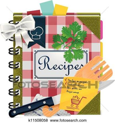 Clip Art of Vector cooking book XXL icon k11508058 - Search Clipart, Illustration Posters ...