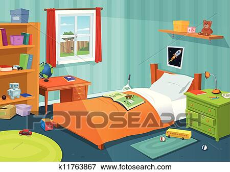 Clip Art Some Kid Bedroom Fotosearch Search Clipart Ilration Posters Drawings