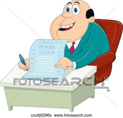 Stock Illustration of Getting a Home Loan coultj0296s - Search Clip Art, Drawings, Fine Art ...