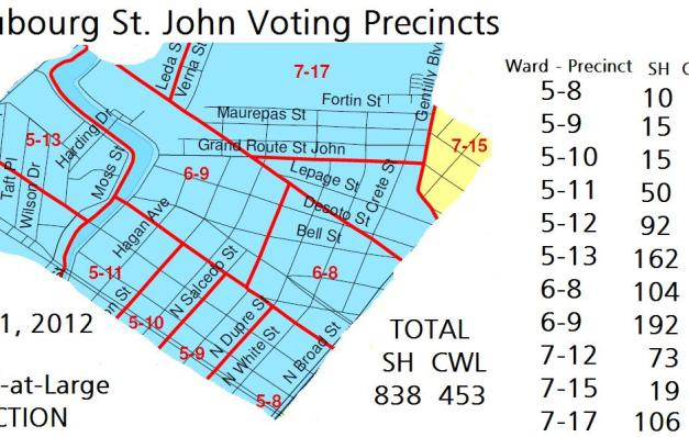 Faubourg St. John Votes