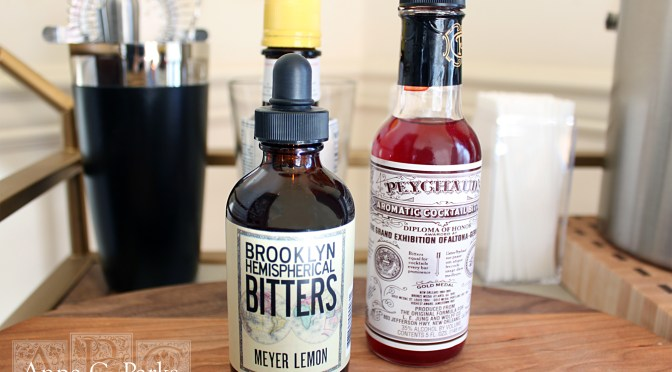 Assorted bitters. Photographed by Anna Parks for Fuchsia-Revolver.org. February 2015.