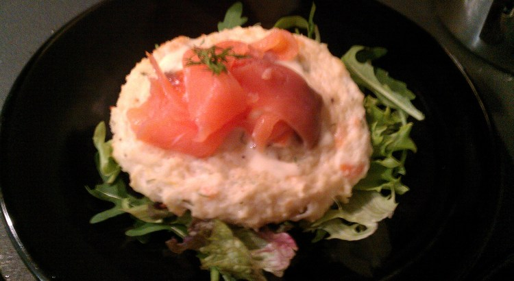 Twice Baked Smoked Salmon Soufflés with Salad