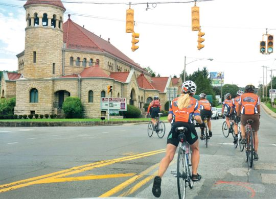 With Bicycle Adventure in its final week, newspaper catches up with cyclists in Wheeling, West Virginia