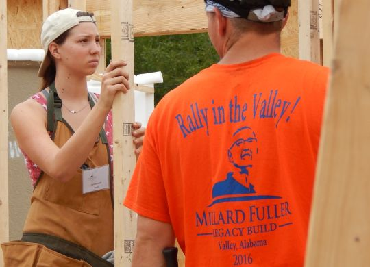 Jasmine Luedi honors grandfather Millard Fuller by helping build home at Legacy Build
