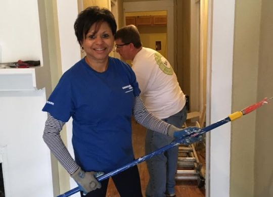 Georgia Power employees help refurbish derelict Macon house that will become decent home
