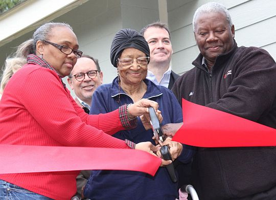 'I've come back home,' 91-year-old says after house she loves is refurbished