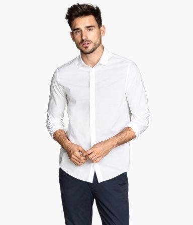 H&M レギュラーフィット コットンシャツ