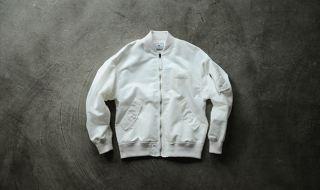 soe2015秋冬コレクションMA-1型ボンバージャケットホワイト1