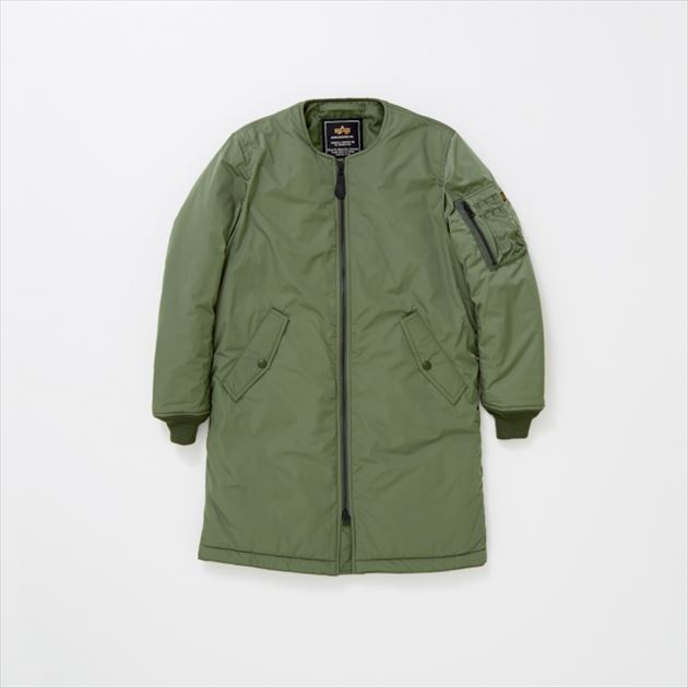 ALPHA INDUSTRIES × SENSE OF PLACE by URBAN RESEARCHコラボMA-1グリーン
