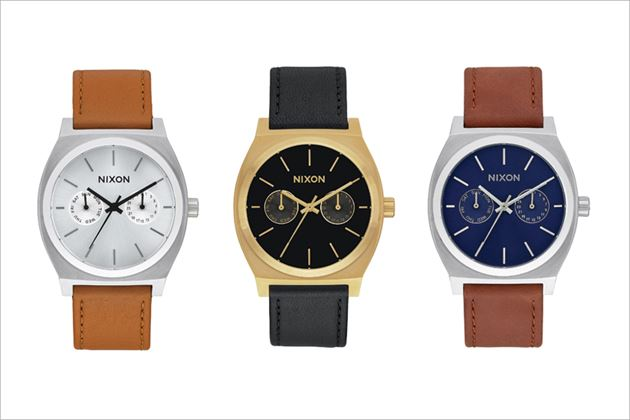 NIXON「THE TIME TELLER DELUXE LEATHER」シリーズ