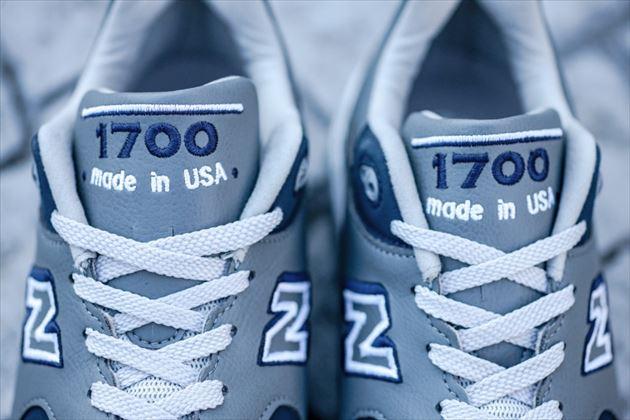 Made in USAで復刻されたNew Balance M1700グレーのアップ画像