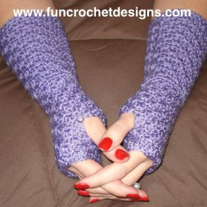 Mermaid Fingerless Gloves Crochet Pattern Download