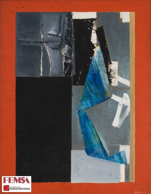 Fernando García Ponce, Composición en negro y rojo, 1970. Colección FEMSA