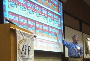 Marc A. Pitman doing fundraising training for an AFP chapter meeting